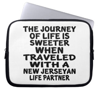 Traveled With A New Jerseyan Life Partner Laptop Sleeve