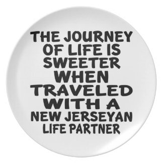 Traveled With A New Jerseyan Life Partner Plate