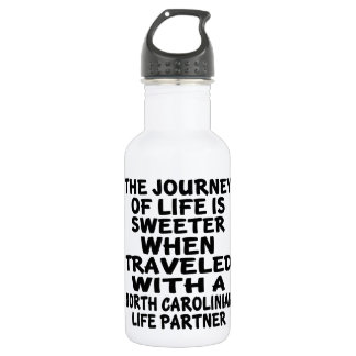 Traveled With A North Carolinian Life Partner 532 Ml Water Bottle