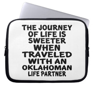 Traveled With A Oklahoman Life Partner Laptop Sleeve
