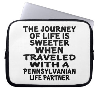 Traveled With A Pennsylvanian Life Partner Laptop Sleeve