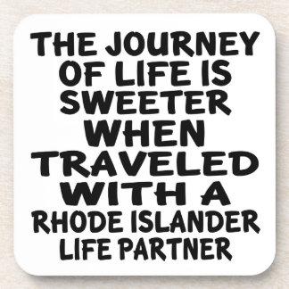 Traveled With A Rhode Islander Life Partner Coaster