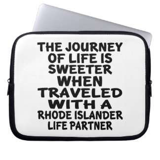 Traveled With A Rhode Islander Life Partner Laptop Sleeve