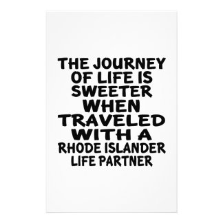 Traveled With A Rhode Islander Life Partner Stationery