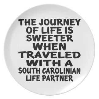 Traveled With A South Carolinian Life Partner Plate