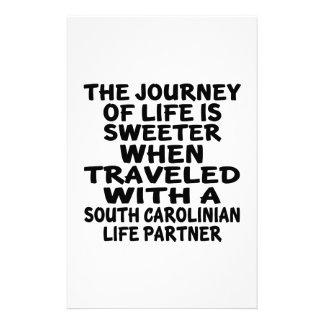 Traveled With A South Carolinian Life Partner Stationery
