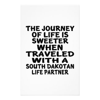 Traveled With A South Dakotan Life Partner Stationery
