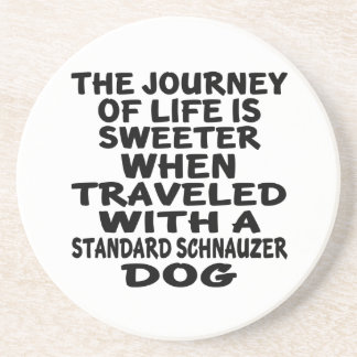 Traveled With A Standard Schnauzer Life Partner Beverage Coaster