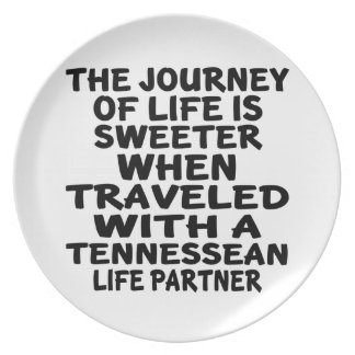 Traveled With A Tennessean Life Partner Plate