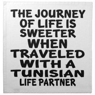 Traveled With A Tunisian Life Partner Napkins