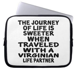 Traveled With A Virginian Life Partner Laptop Sleeve