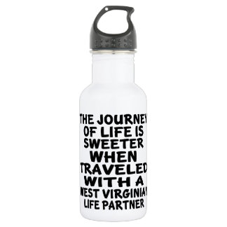 Traveled With A West Virginian Life Partner 532 Ml Water Bottle