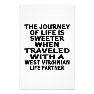 Traveled With A West Virginian Life Partner Stationery