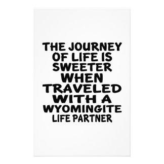 Traveled With A Wyomingite Life Partner Stationery