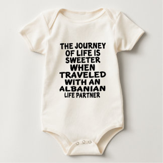 Traveled With An Albanian Life Partner Baby Bodysuit