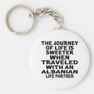 Traveled With An Albanian Life Partner Basic Round Button Keychain