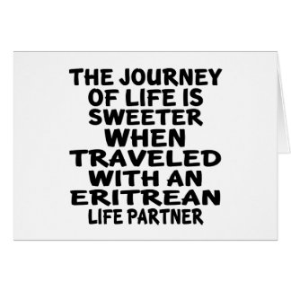 Traveled With An Eritrean Life Partner Card