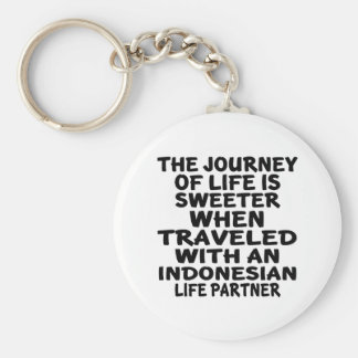 Traveled With An Indonesian Life Partner Basic Round Button Keychain