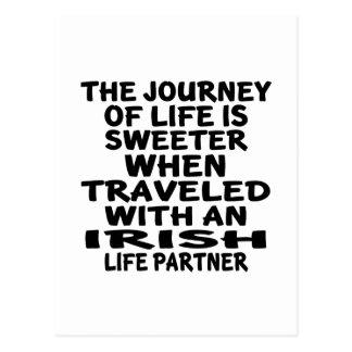 Traveled With An Irish Life Partner Postcard