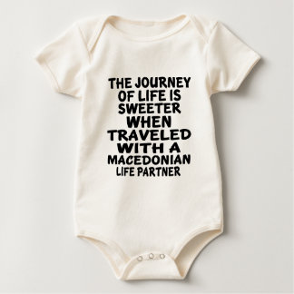 Traveled With An Macedonian Life Partner Baby Bodysuit