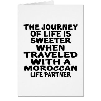 Traveled With An Moroccan Life Partner Card