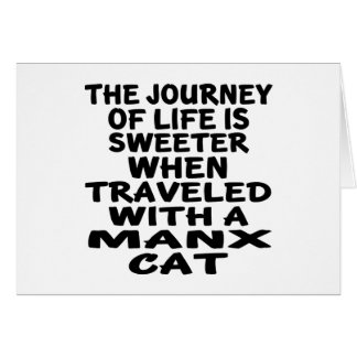 Traveled With Manx Cat Card