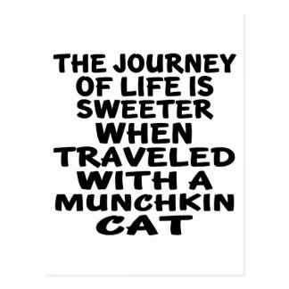 Traveled With Munchkin Cat Postcard