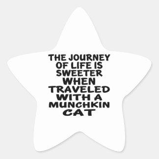 Traveled With Munchkin Cat Star Sticker