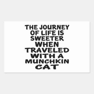 Traveled With Munchkin Cat Sticker