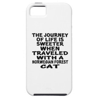 Traveled With Norwegian Forest Cat Cat Case For The iPhone 5