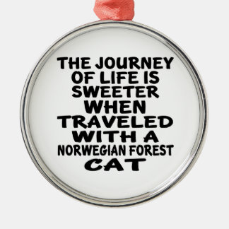 Traveled With Norwegian Forest Cat Cat Metal Ornament