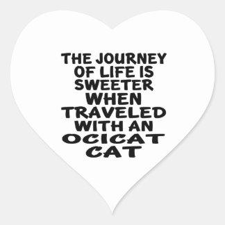 Traveled With Ocicat Cat Heart Sticker
