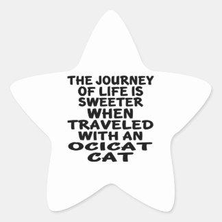 Traveled With Ocicat Cat Star Sticker