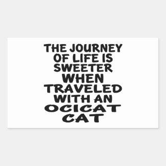 Traveled With Ocicat Cat Sticker