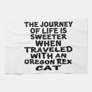Traveled With Oregon Rex Cat Kitchen Towel