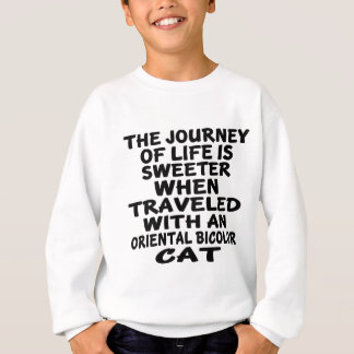Traveled With Oriental Bicolor Cat Sweatshirt