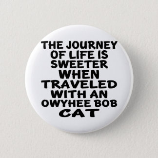 Traveled With Owyhee bob Cat 2 Inch Round Button