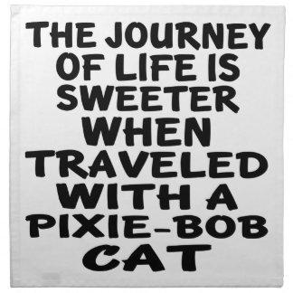 Traveled With Pixie-Bob Cat Cloth Napkins