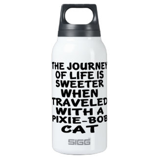 Traveled With Pixie-Bob Cat Insulated Water Bottle