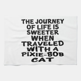 Traveled With Pixie-Bob Cat Kitchen Towel