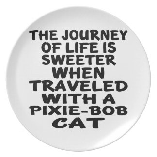 Traveled With Pixie-Bob Cat Party Plates