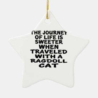 Traveled With Ragdoll Cat Ceramic Ornament
