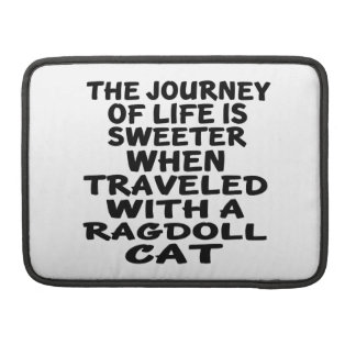Traveled With Ragdoll Cat Sleeves For MacBook Pro