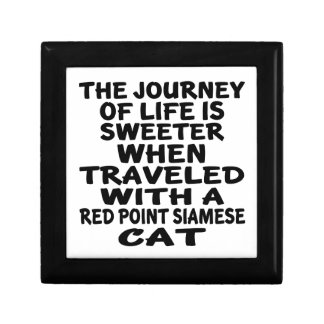 Traveled With Red point siamese Cat Gift Box