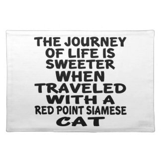 Traveled With Red point siamese Cat Placemat