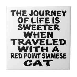 Traveled With Red point siamese Cat Tile