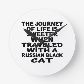 Traveled With Russian Black Cat Clocks