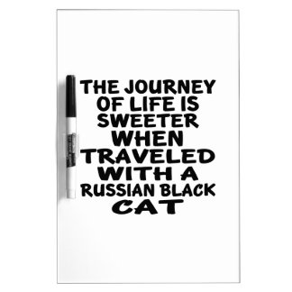 Traveled With Russian Black Cat Dry Erase Board