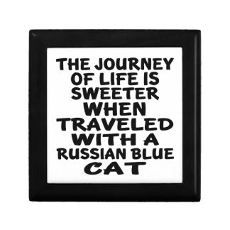 Traveled With Russian Blue Cat Keepsake Box