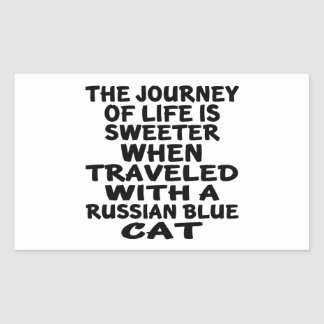 Traveled With Russian Blue Cat Sticker